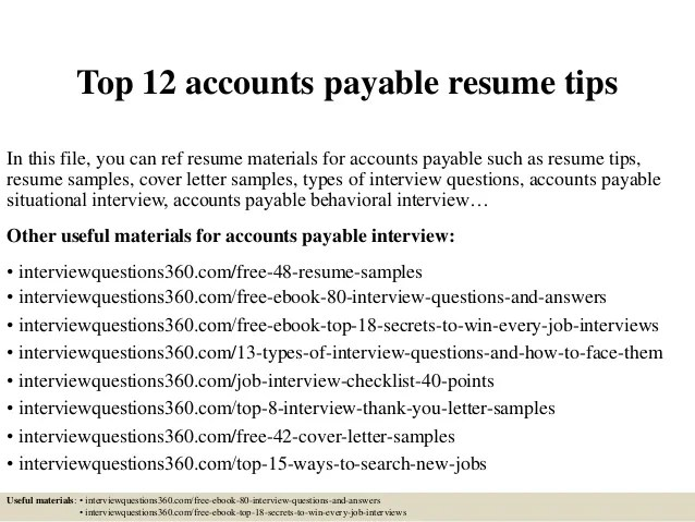 Top 12 Accounts Payable Resume Tips 1 638 ?cb=1430724209