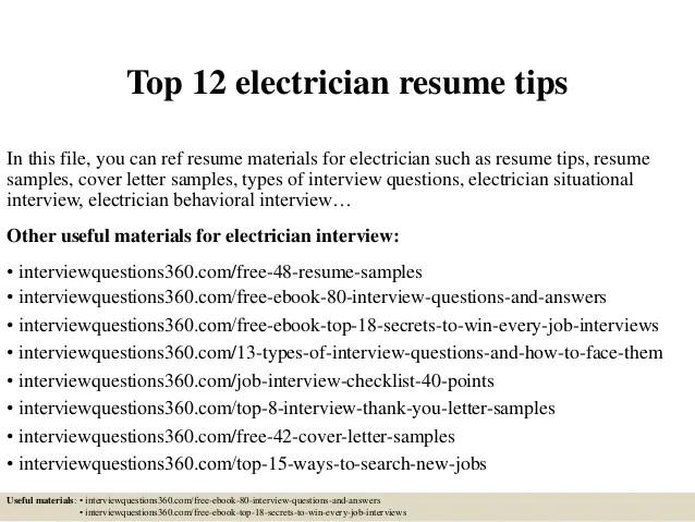 Resume Template Electrician electrician apprentice resume resume