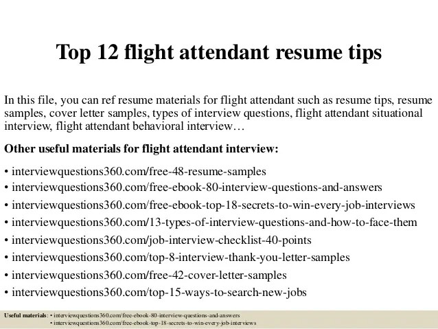 Top 12 Flight Attendant Resume Tips 1 638 ?cb=1427964425