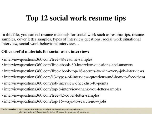 Home Design Ideas. Social. Job Resume Social Worker Resume