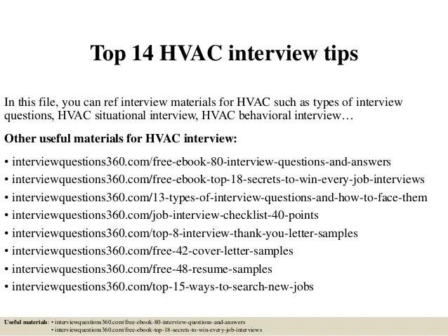Top 14 Hvac Interview Tips