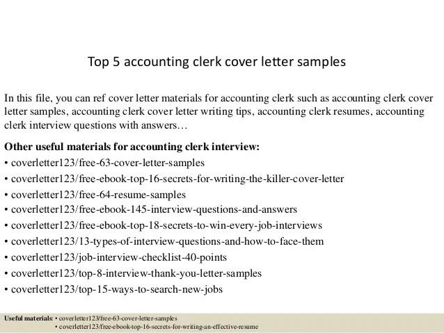 Tally Clerk Cover Letter