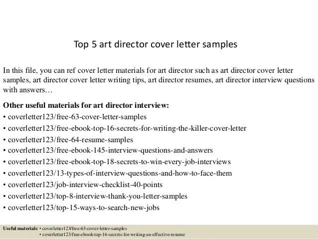 Top 5 art director cover letter samples