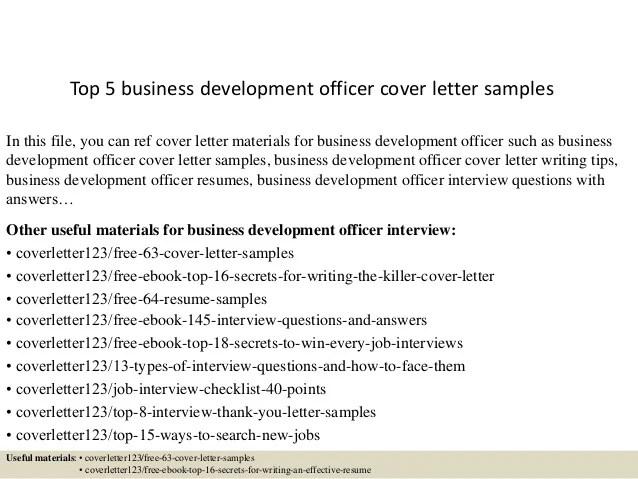 sample cover letter for business development manager