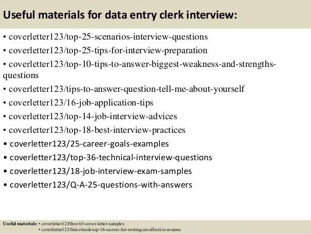 Top 5 data entry clerk cover letter samples