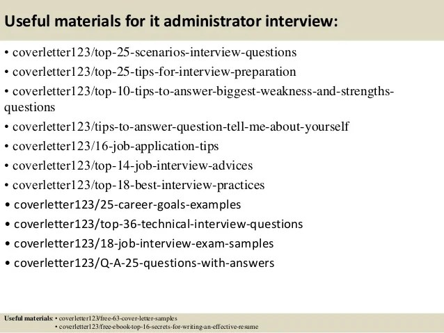 13 Useful Materials For It Administrator Sample Cover Letter. Sharepoint  Administrator ...