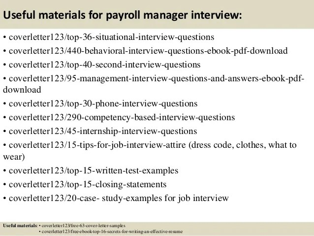 payroll manager cover letter | Poemsrom.co