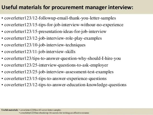 Top 5 procurement manager cover letter samples