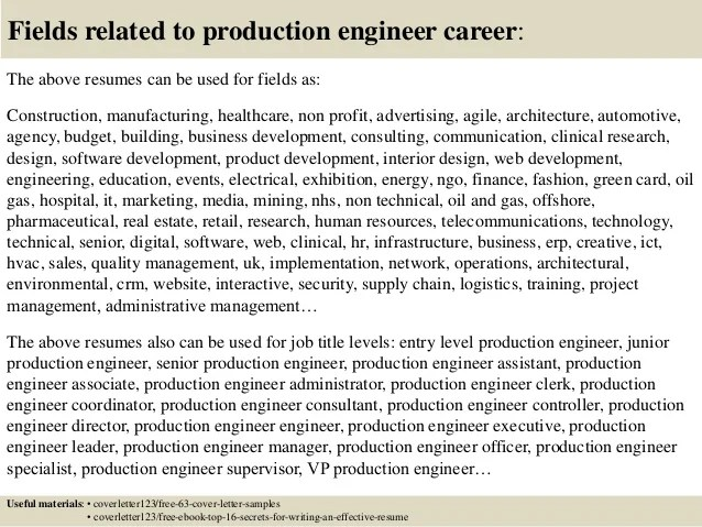 pharmaceutical production engineer resume samples