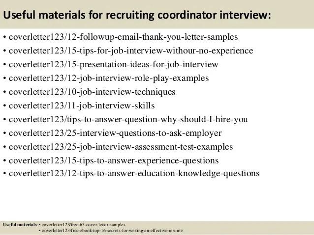 12 recruiting resume samples