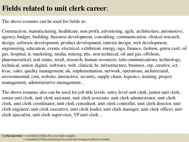 Technical Clerk Cover Letter