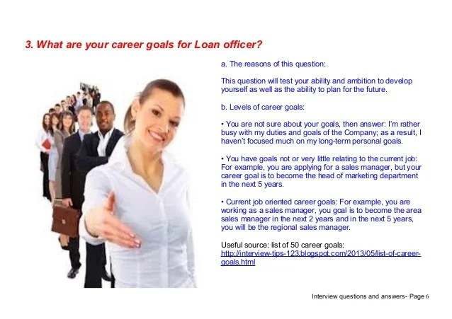 Top 7 loan officer interview questions answers