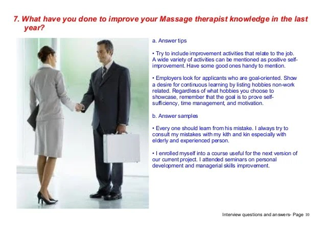 Top 7 Massage Therapist Interview Questions Answers