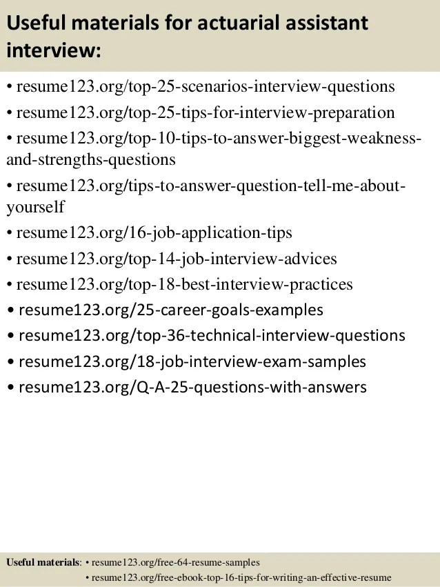Top 8 Actuarial Assistant Resume Samples