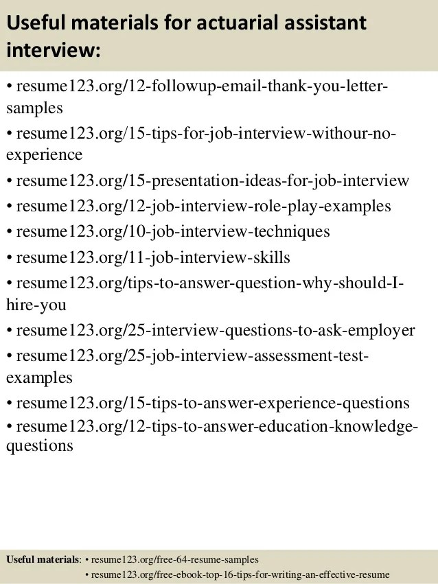 Top 8 Actuarial Assistant Resume Samples