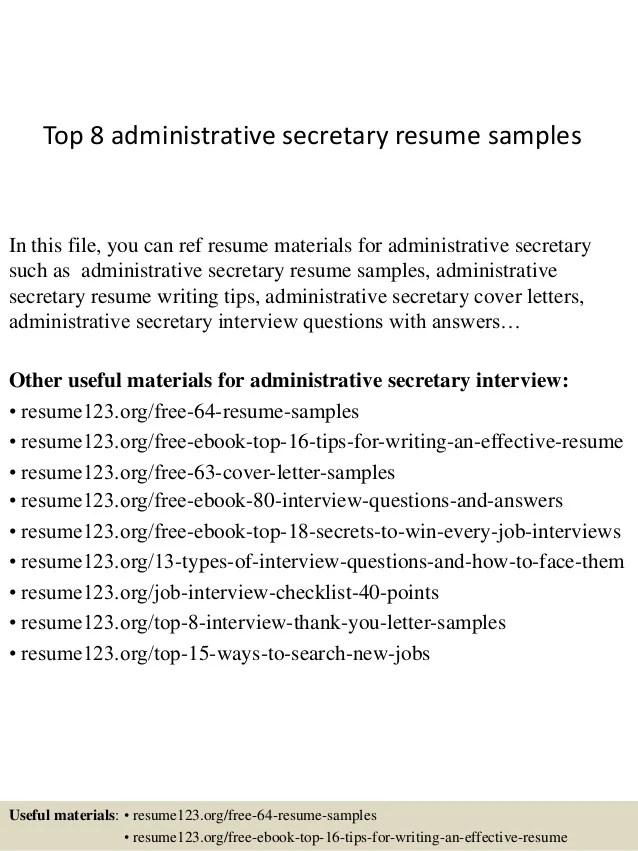 Secretary Resume Objective Examples