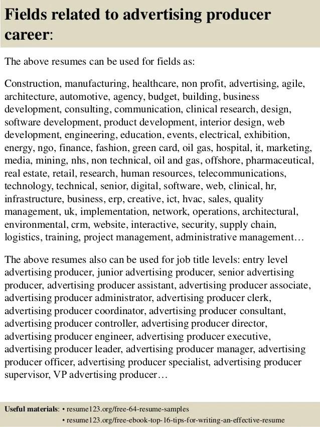 Resume For Advertising Job. advertising manager resume april ...