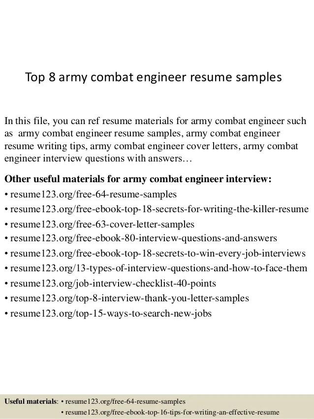 Top 8 Army Combat Engineer Resume Samples 1 638 ?cb=1434269321