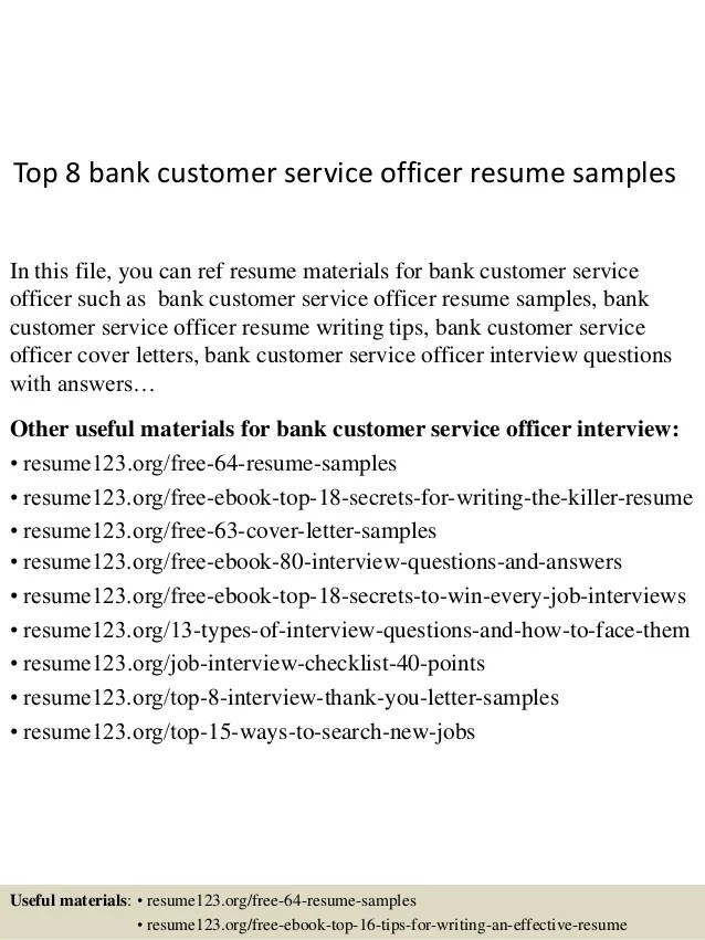 resume sample resume for customer service at bank sample resume for customer service representative in bank - Cover Letter For Bank Customer Service Representative