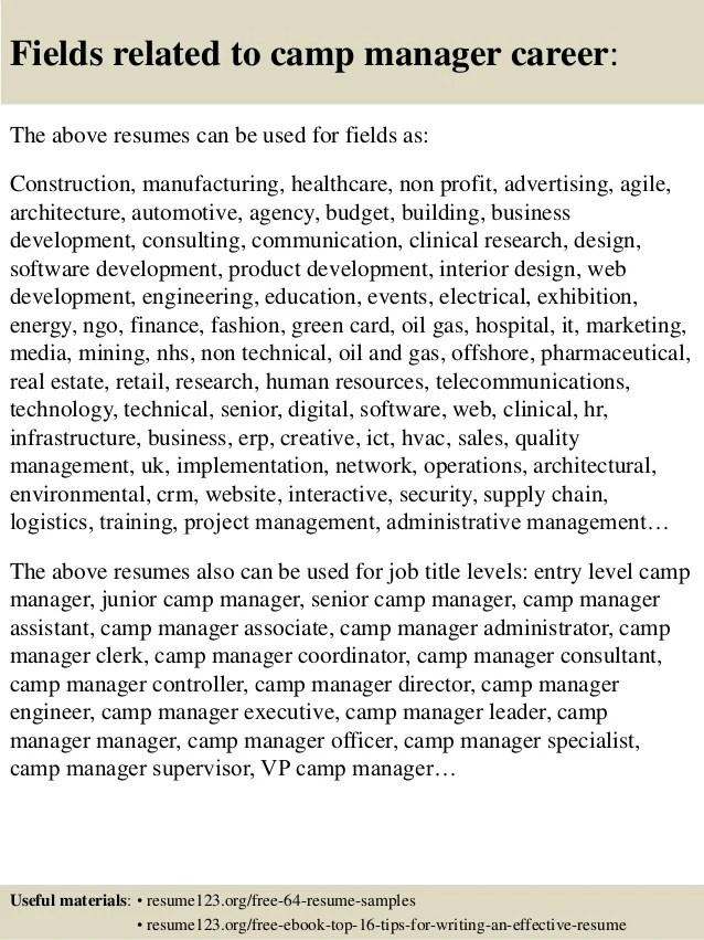 Summer Camp Supervisor Job Description   traveltourswall.com