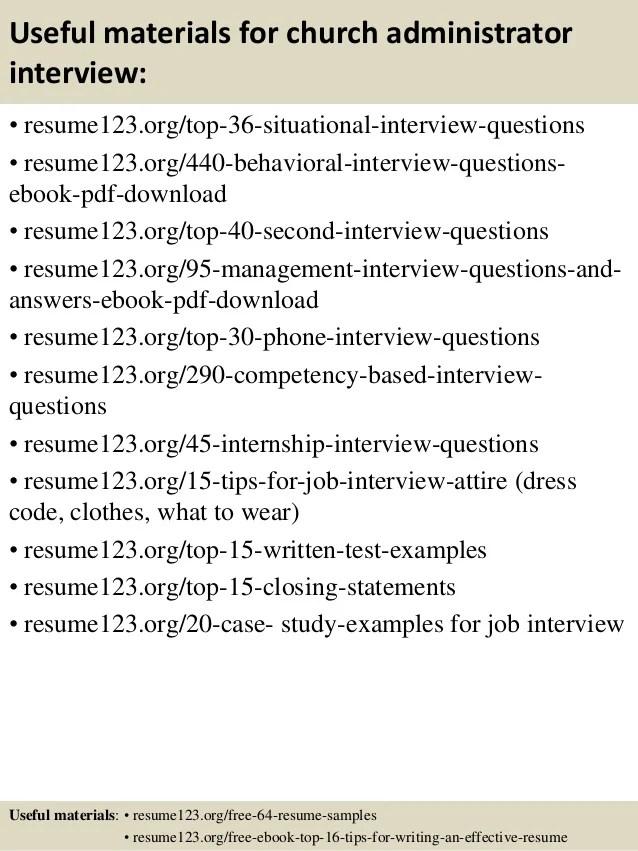 Top 8 Church Administrator Resume Samples
