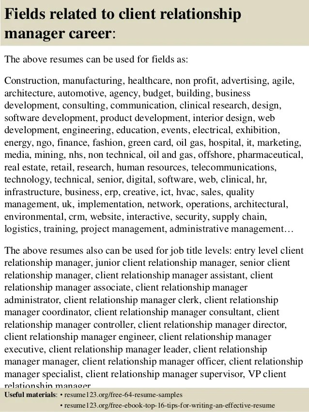 Sample Cover Letter For Client Relationship Manager | Inviview.co
