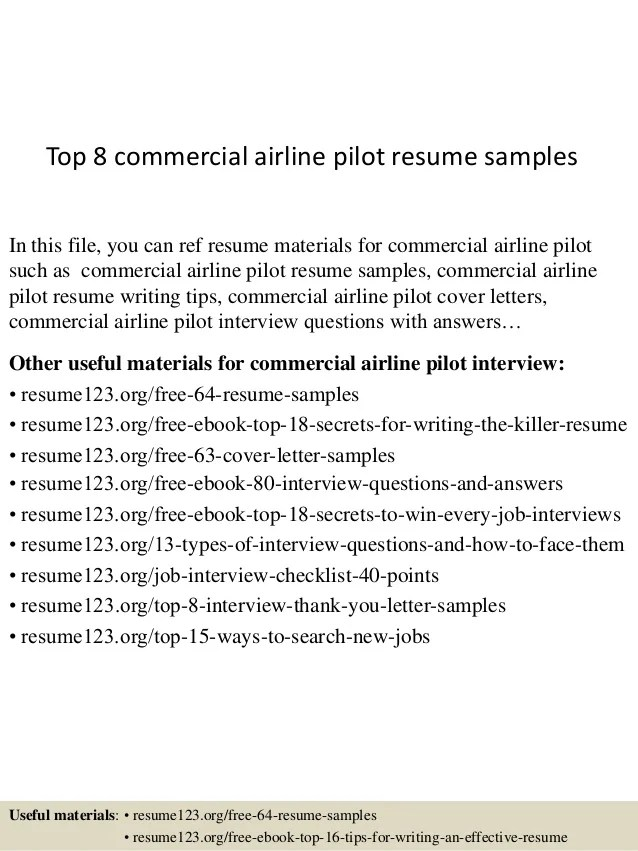 Top 8 Commercial Airline Pilot Resume Samples 1 638 ?cb=1438222599