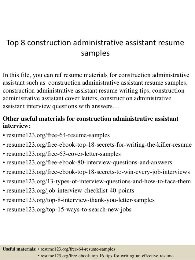 Real estate administrative assistant resume