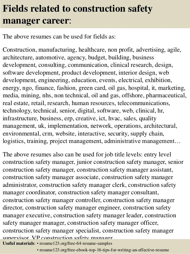 resume tips on marketing