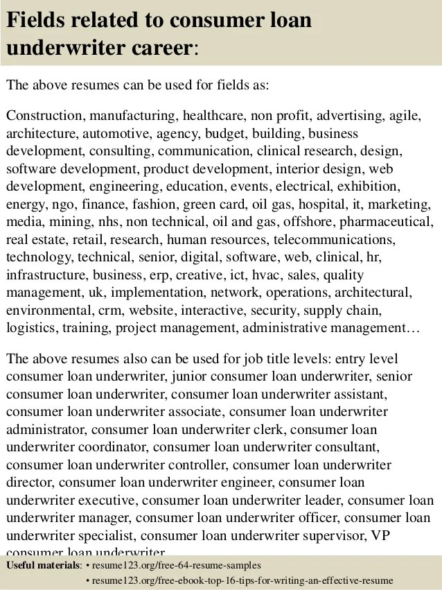 underwriter resume examples examples of resumes - Underwriter Resume Sample