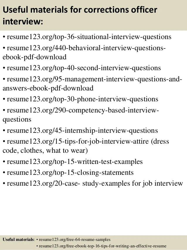 Correctional Officer Resume Examples - Examples of Resumes