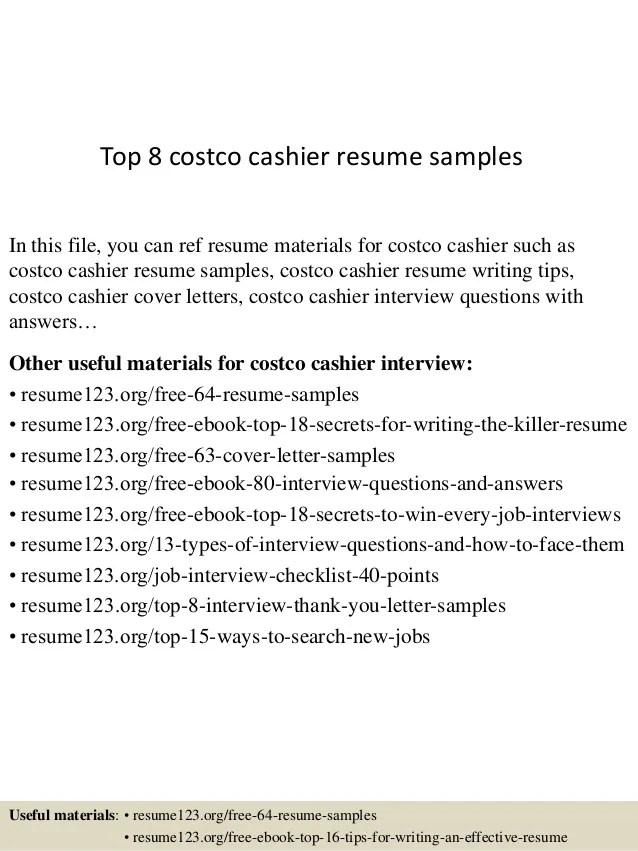 Costco resume examples