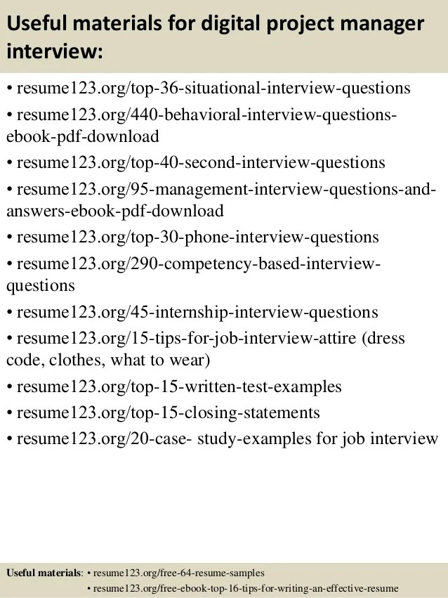 resume writing tips for project manager