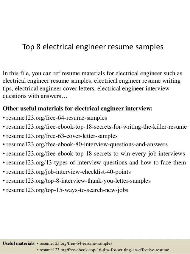 Top 8 Electrical Engineer Resume Samples 1 638 ?cb=1429945188