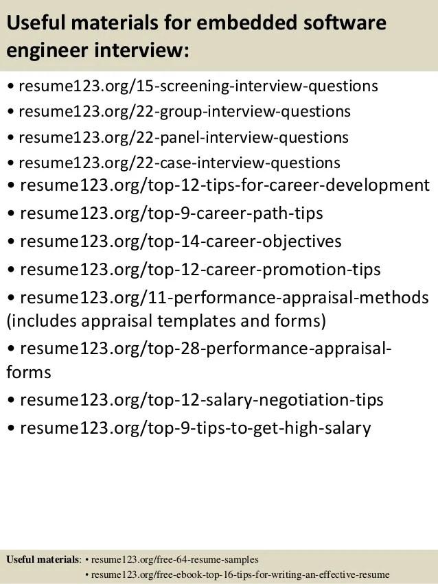 Embedded Software Engineer Resume Example - Contegri.com