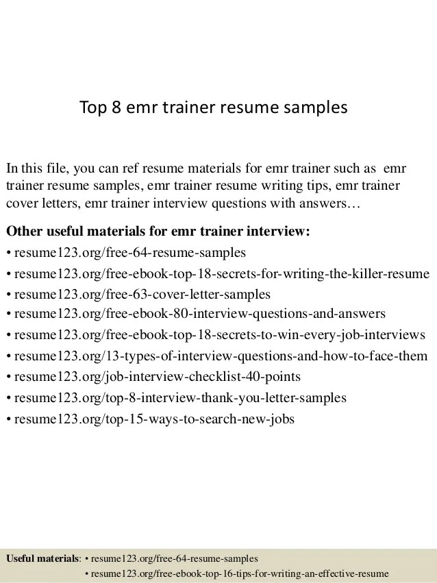 ... Resume Emr Letter Howtoviews Co ...
