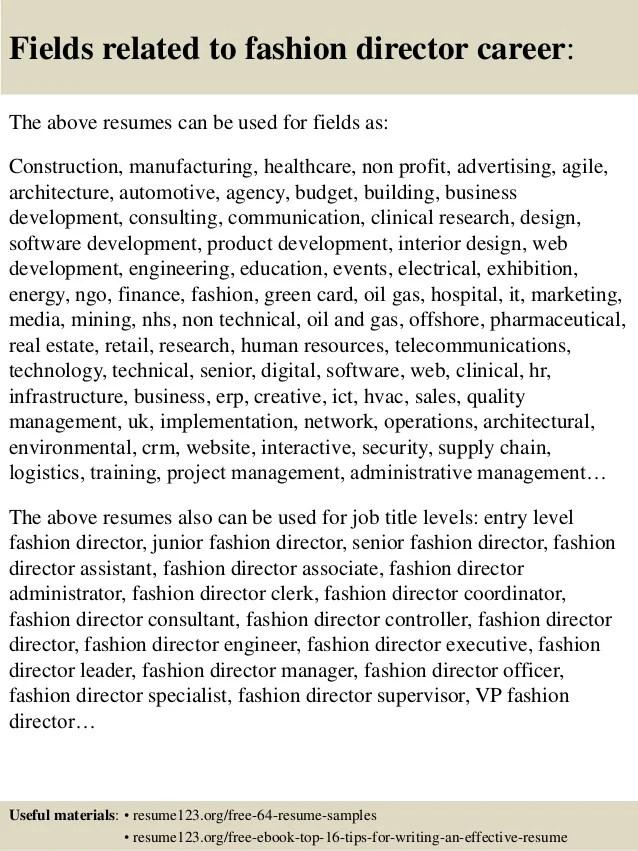 director of sales resume samples