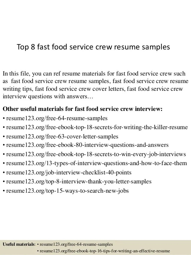 Food Service Resume. Ideas Of Food Service Assistant Sample Resume