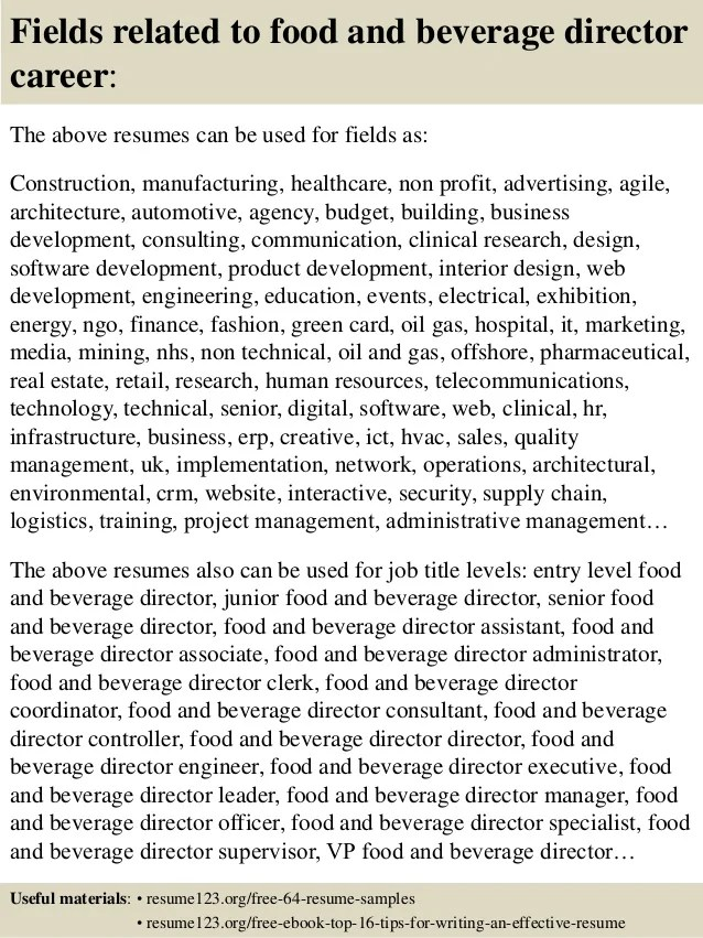 non profit senior director of operations resume templates