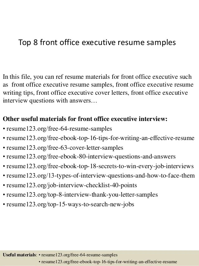 Top 8 Front Office Executive Resume Samples 1 638 ?cb=1428396388