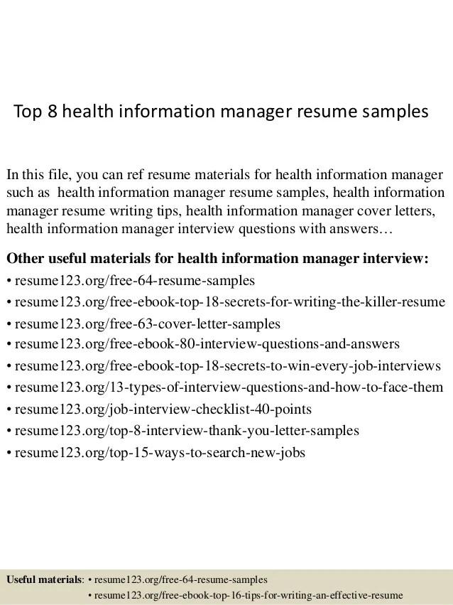 health information management resume sample - Juve.cenitdelacabrera.co