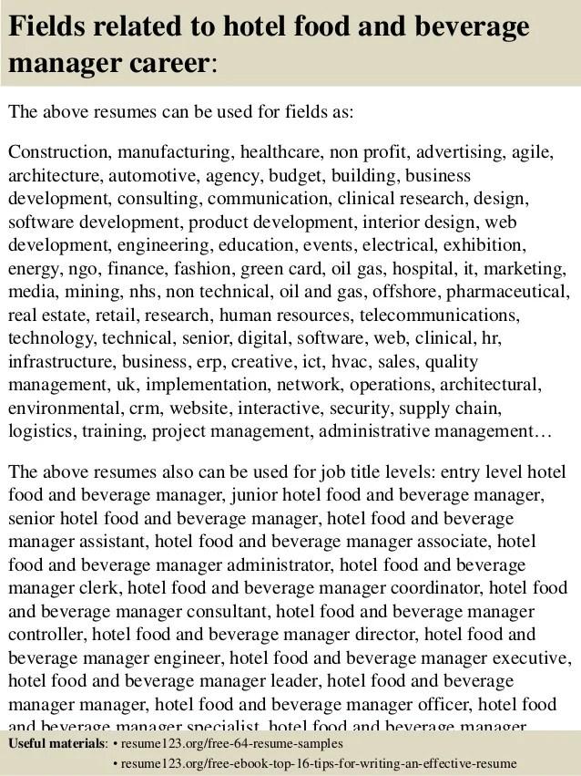 food business development manager resume samples