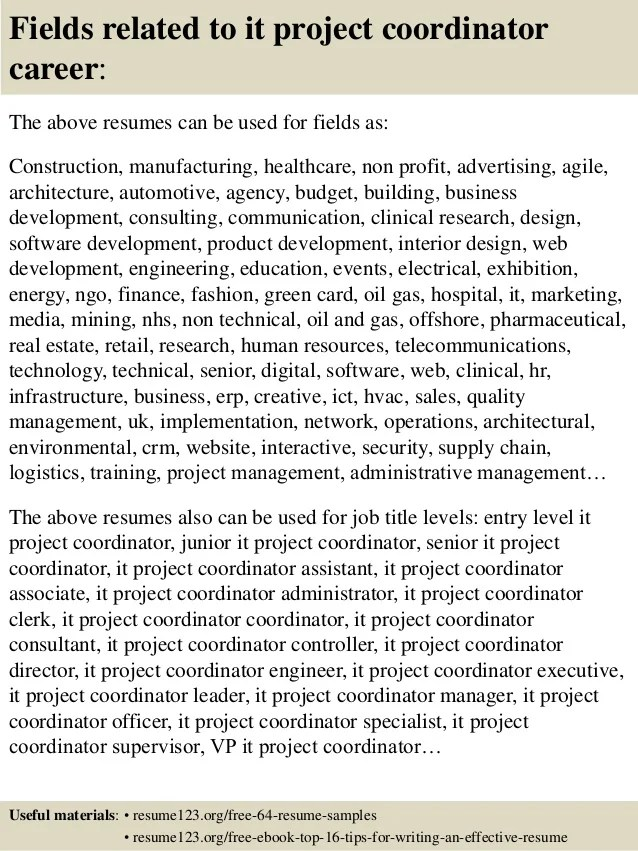 Resume Objective Examples Project Coordinator Resume Ixiplay  Sample Project Coordinator Resume