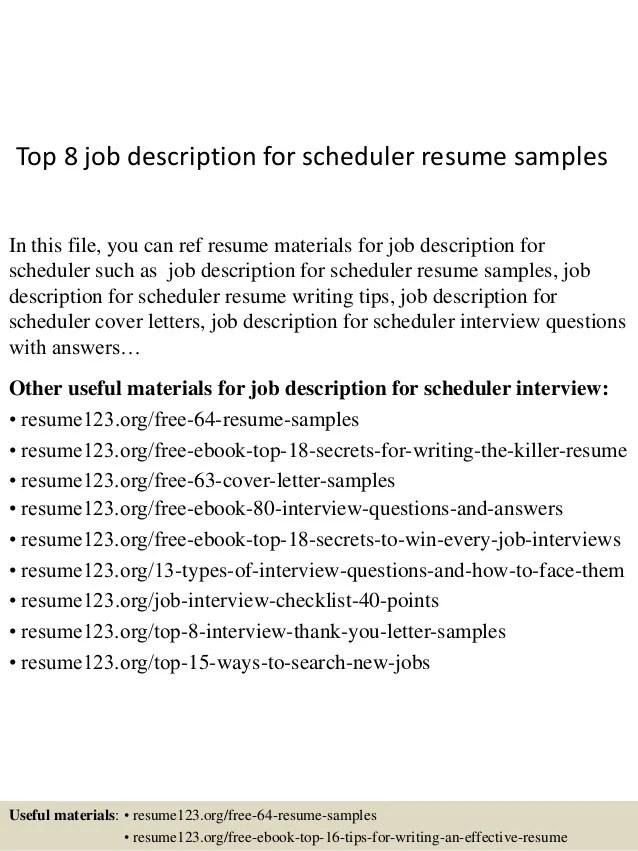 scheduler resume