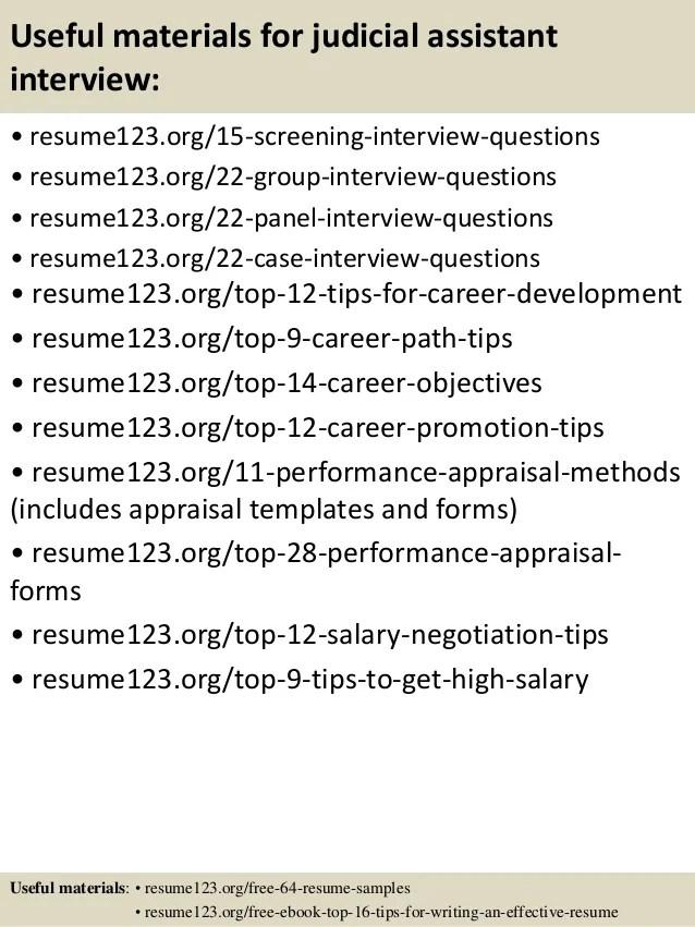 Top 8 Judicial Assistant Resume Samples
