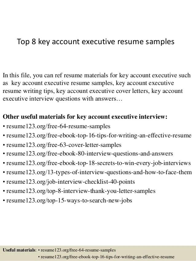 Account Executive Resume Examples