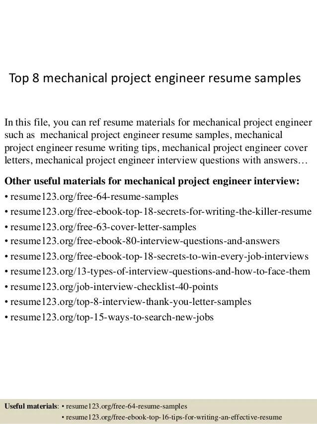Top 8 Mechanical Project Engineer Resume Samples 1 638 ?cbu003d1431451846