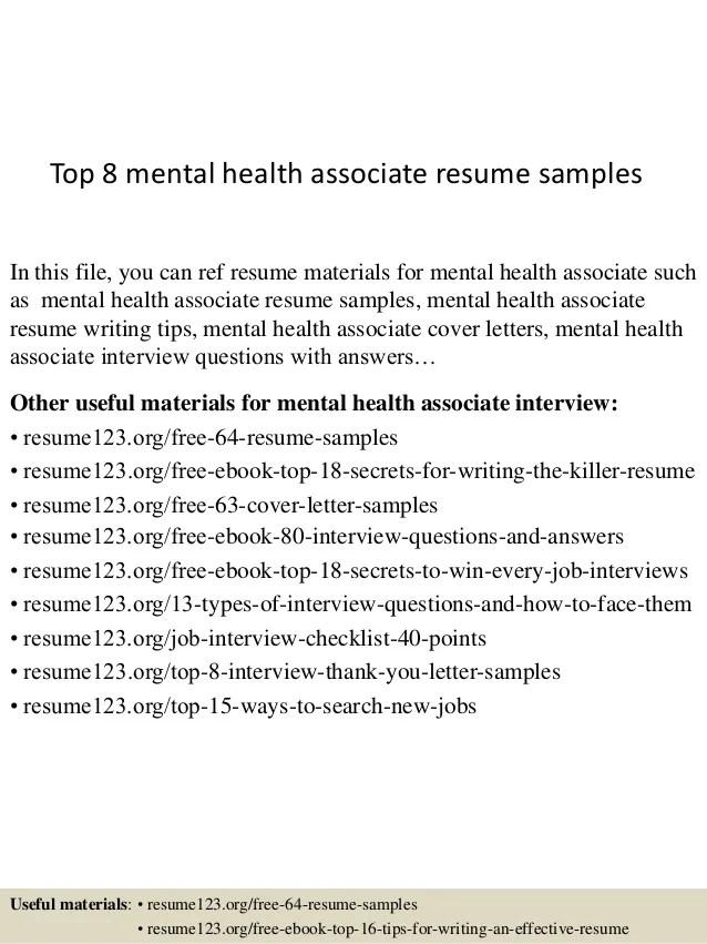 Top 8 Mental Health Associate Resume Samples 1 638 ?cb=1431743598