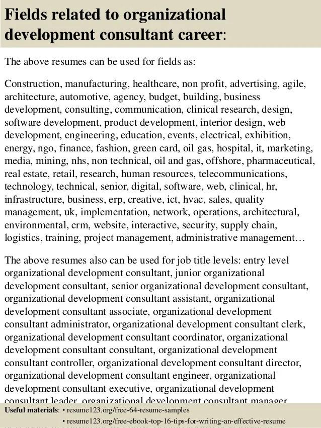 Top 8 organizational development consultant resume samples