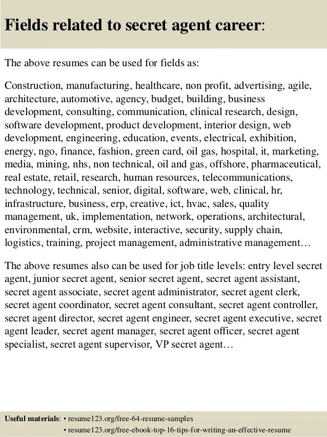 secret service resume sample